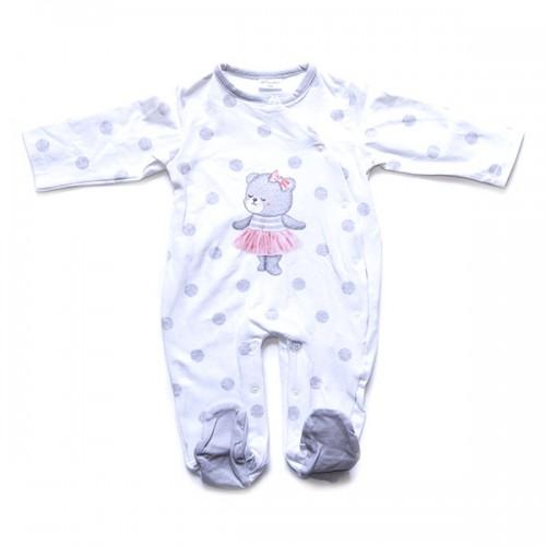 Pelele bebé manga larga lunares