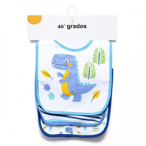 Pack 3 unidades Babero Dinosaurio