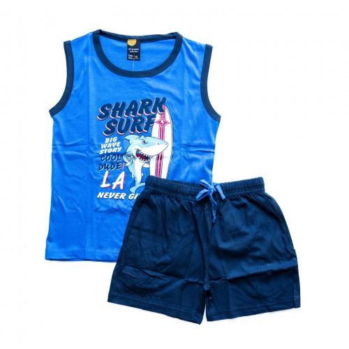 Pijama niño SHARK azul 40 GRADOS
