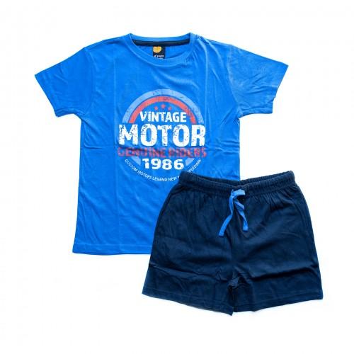 Pijama niño MOTOR azul 40 GRADOS