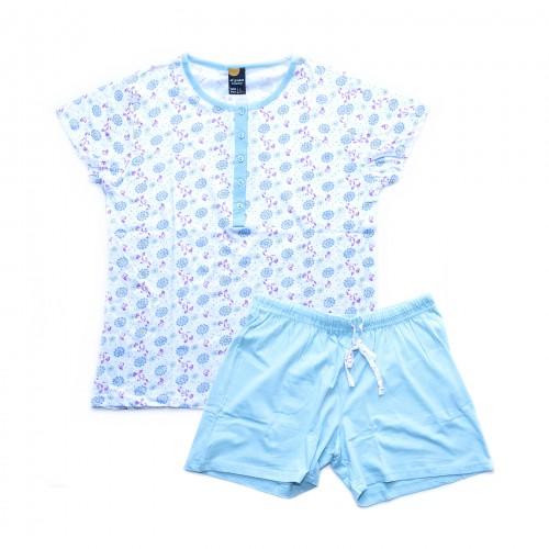 Pijama mujer flores azul 40 GRADOS