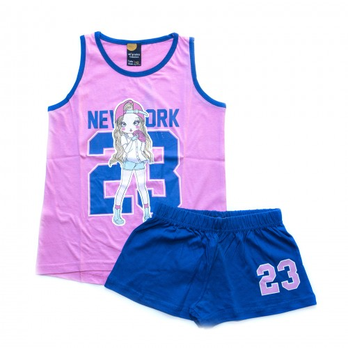 Pijama niña NEW YORK rosa 40 GRADOS