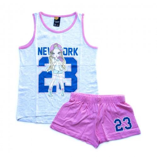 Pijama niña NEW YORK gris 40 GRADOS