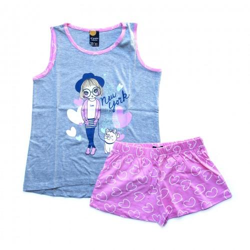 Pijama niña New York corazones 40 GRADOS