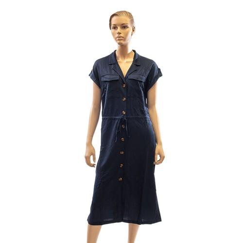 Vestido mujer botones azul RAS DE MAR