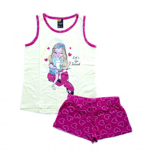 Pijama niña tirantes moto 40 GRADOS