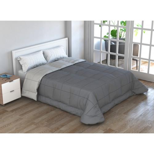 Edredón bi-color gris Home Secret