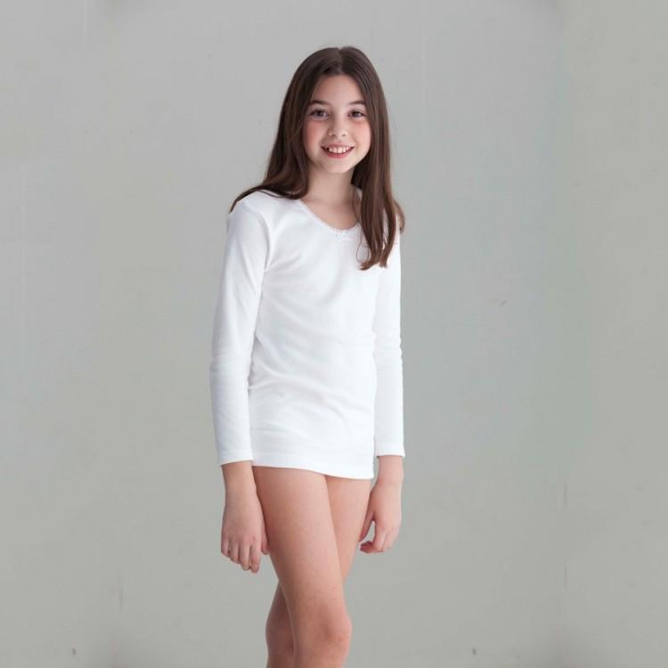 Camiseta felpa para niña M/L Punt Nou