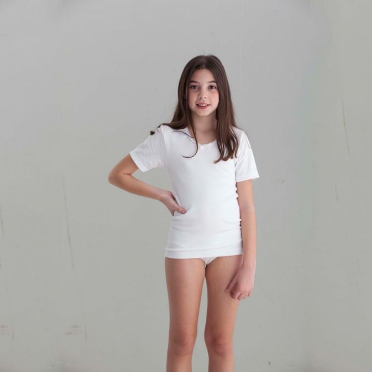 Camiseta felpa para niña M/C Punt Nou
