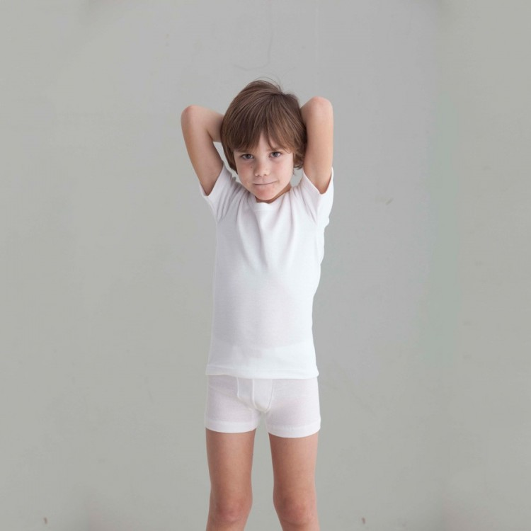 Camiseta felpa para niño M/C Punt Nou